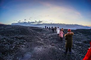 アイスランド・氷の洞窟(ヴァトナヨークトル)の写真素材 [FYI03444585]