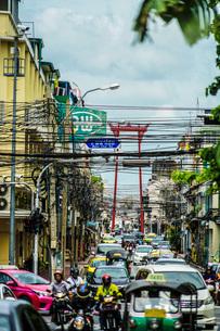 タイ王国・バンコク中心部の街並みの写真素材 [FYI03444628]