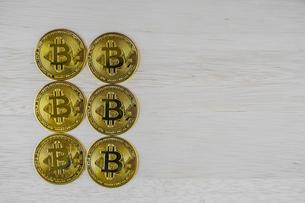 ビットコインのイメージ(仮想通貨)の写真素材 [FYI03444722]