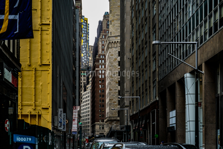 ニューヨーク・ロウアーマンハッタンの街並みの写真素材 [FYI03444776 ...