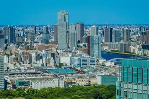 東京の街並みと築地市場の写真素材 [FYI03444800]
