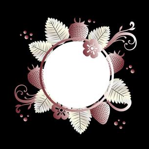 苺 背景 フレームのイラスト素材 [FYI03445360]
