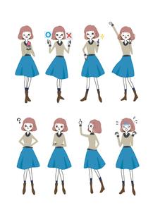働くおしゃれ女子シリーズ / サインポーズ002のイラスト素材 [FYI03445435]