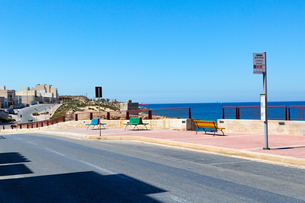 マルタ共和国シャイラのバス停の写真素材 [FYI03445756]