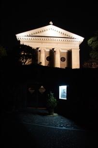 夜の倉敷の町並み 美観地区の写真素材 [FYI03446246]