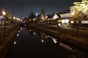 夜の倉敷の町並み 美観地区の写真素材 [FYI03446261]