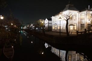 夜の倉敷の町並み 美観地区の写真素材 [FYI03446264]