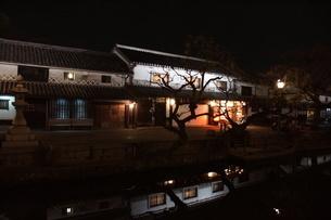 夜の倉敷の町並み 美観地区の写真素材 [FYI03446268]