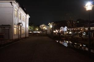 夜の倉敷の町並み 美観地区の写真素材 [FYI03446270]