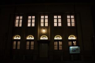 夜の倉敷の町並み 美観地区の写真素材 [FYI03446526]