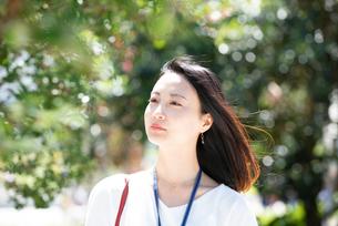 遠くを見ている女性の写真素材 [FYI03446606]