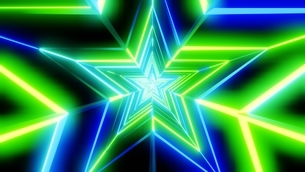 Green and blue star abstractのイラスト素材 [FYI03446857]
