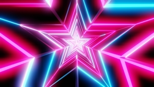 Pink and blue star abstractのイラスト素材 [FYI03446858]