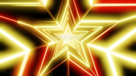 Yellow and orange star abstractのイラスト素材 [FYI03446859]