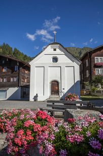 スイス、ミュンスターの街並みの写真素材 [FYI03447013]