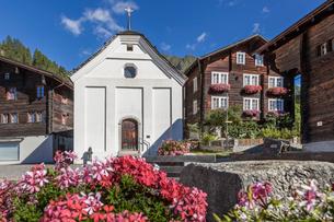 スイス、ミュンスターの街並みの写真素材 [FYI03447014]