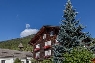 スイス、ミュンスターの街並みの写真素材 [FYI03447017]