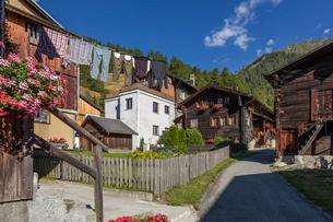 スイス、ミュンスターの街並みの写真素材 [FYI03447034]