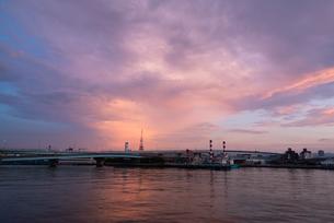 博多湾夕景の写真素材 [FYI03447107]