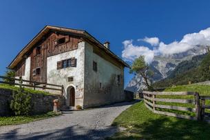 スイス、マイエンフェルトの風景の写真素材 [FYI03447193]