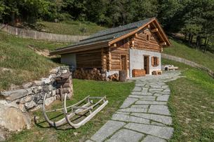 スイス、マイエンフェルトの風景の写真素材 [FYI03447213]