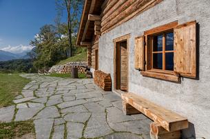 スイス、マイエンフェルトの風景の写真素材 [FYI03447221]