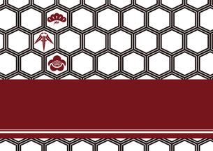 松竹梅をモチーフにした和柄背景素材のイラスト素材 [FYI03447234]