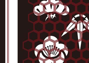 松竹梅をモチーフにした和柄背景素材のイラスト素材 [FYI03447235]