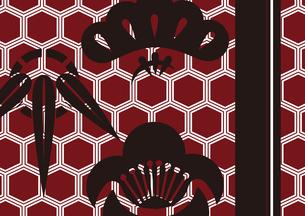 松竹梅をモチーフにした和柄背景素材のイラスト素材 [FYI03447238]