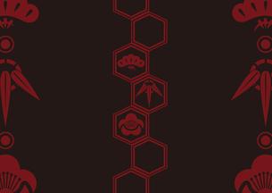 松竹梅をモチーフにした和柄背景素材のイラスト素材 [FYI03447248]