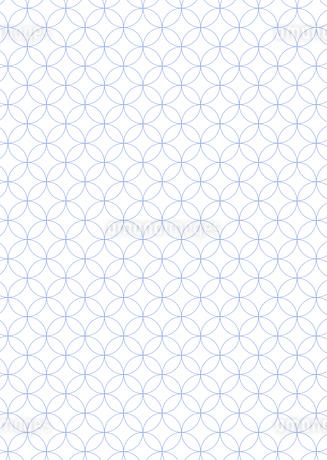 年賀状、結婚式などに使える七宝の和柄背景素材のイラスト素材 [FYI03447258]