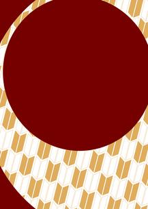 年賀状、結婚式などに使える和柄背景素材のイラスト素材 [FYI03447280]