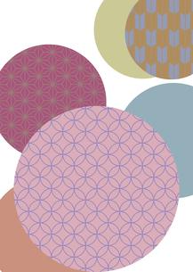 輪の中に和紋様を施した和柄背景素材のイラスト素材 [FYI03447301]