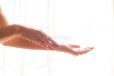 手入れされた女性の手08の写真素材 [FYI03448086]