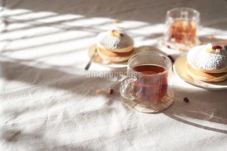 ティータイム 美味しいパンケーキ03の写真素材 [FYI03448297]