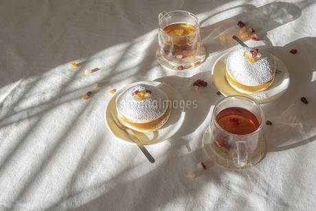 ティータイム 美味しいパンケーキ02の写真素材 [FYI03448298]