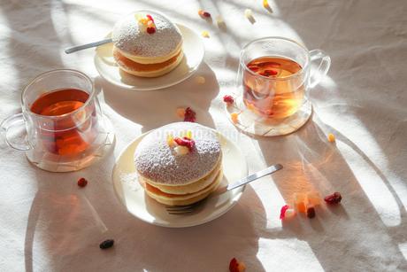 ティータイム 美味しいパンケーキ01の写真素材 [FYI03448299]