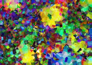 ポリゴンが水晶化したピクセレートのクールなアブストラクトのイラスト素材 [FYI03448746]