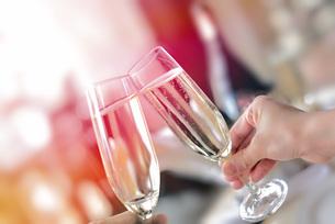 シャンパンで乾杯の写真素材 [FYI03448927]