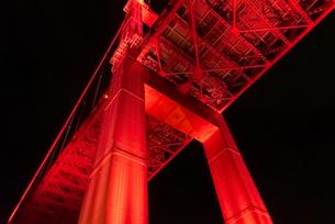 若戸大橋ライトアップの写真素材 [FYI03449324]