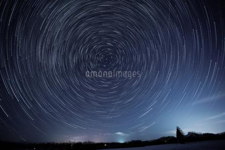 星の軌跡の写真素材 [FYI03449395]