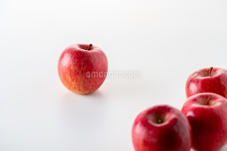 Red apples on white backgroundの写真素材 [FYI03449418]