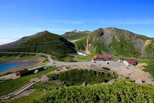 大国岳から畳平と乗鞍岳山頂の写真素材 [FYI03449548]