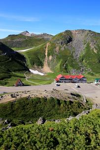 大国岳から畳平と乗鞍岳山頂の写真素材 [FYI03449550]
