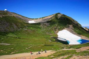 大国岳から畳平と乗鞍岳の写真素材 [FYI03449553]