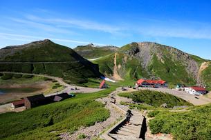 大国岳から畳平と乗鞍岳山頂の写真素材 [FYI03449555]