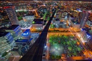 札幌の夜景の写真素材 [FYI03449624]