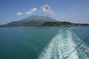 噴火中の桜島の写真素材 [FYI03449638]