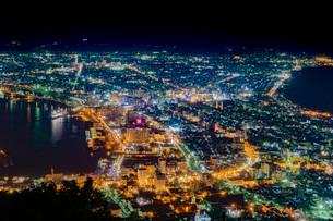 函館の夜景の写真素材 [FYI03449660]
