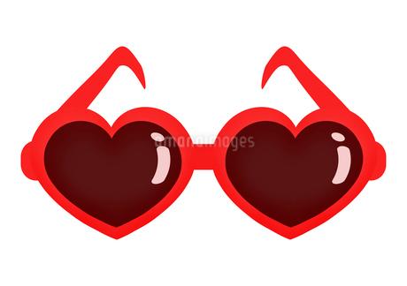 ハート型のサングラスのイラスト素材 [FYI03450044]